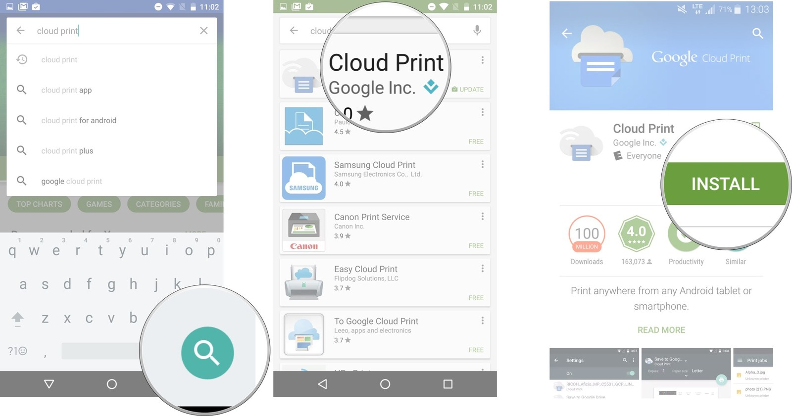 cloud print app for android