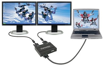 connect dual monitor to laptop