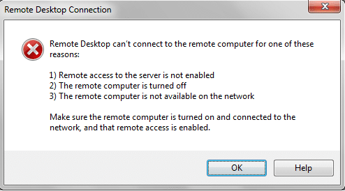 remote desktop not working