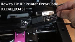 HP Printer error code oxc4eb9343
