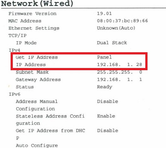 How do I find the IP address of my Dell printer