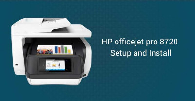 How to setup HP Officejet pro 8720