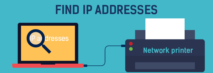 Where is the IP address located on my HP printer