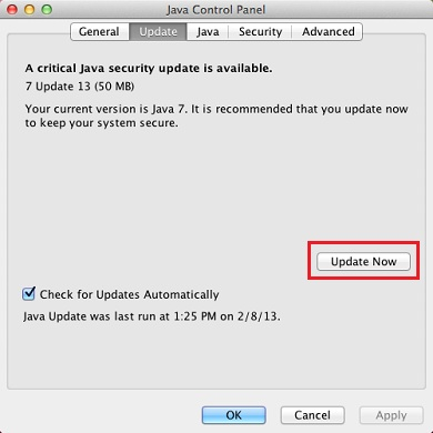 How to Update your Java on Mac