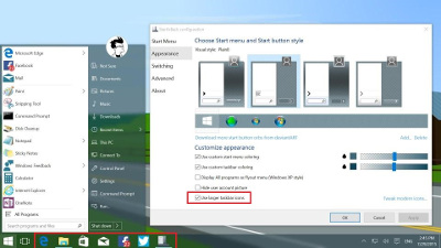 How to make taskbar icons bigger windows 10