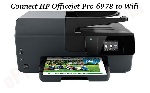 Connect HP Officejet Pro 6978 to Wifi