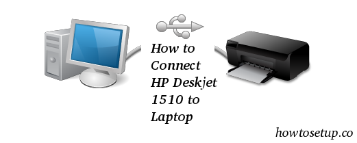 How to Connect HP Deskjet 1510 to Laptop