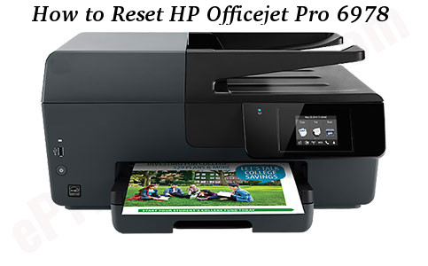 How to Reset HP Officejet Pro 6978 Printer