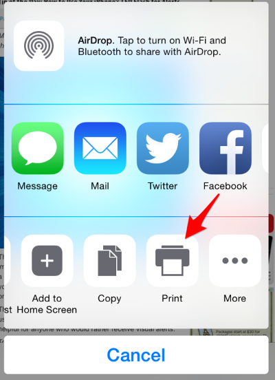airprint setup