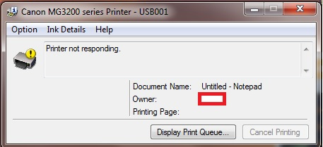 How to fix canon printer not responding