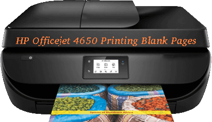 HP Officejet 4650 Printing Blank Pages