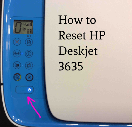 How to Reset HP Deskjet 3635