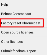 How to Factory Reset Google Chromecast