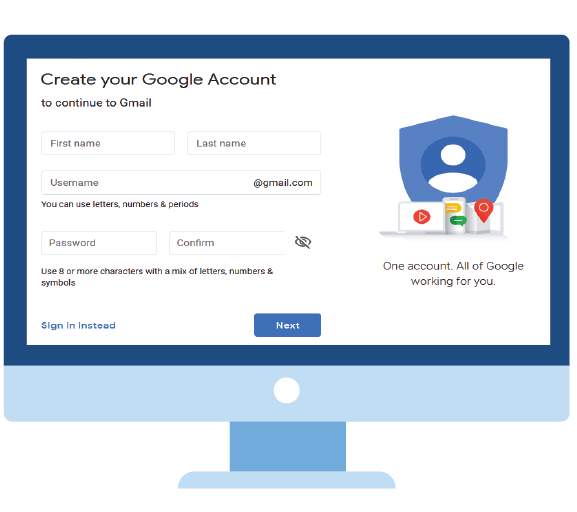 Google Mail account on your Computer