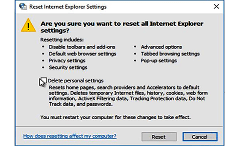 How to Reset Internet Explorer Settings