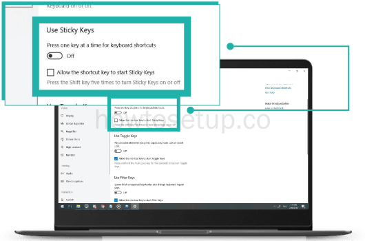 How To Turn Off/Disable Sticky Keys In Windows 10