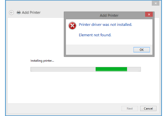 Printer Driver Was Not Installed
