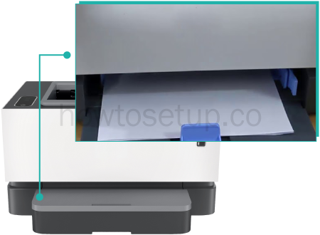 HP Neverstop Laser 1000a Loading paper