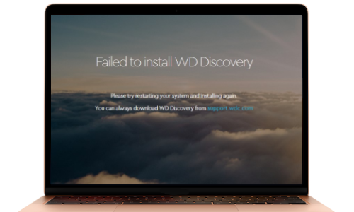 WD Discovery Installation Failed