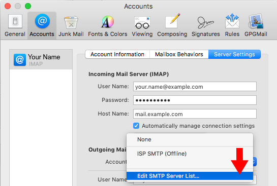 how to set up mail server on Mac os X
