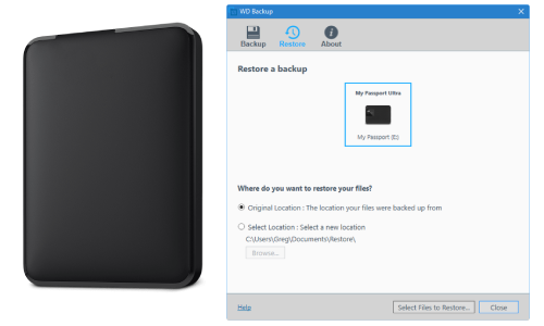 WD Backup Restore To New Computer