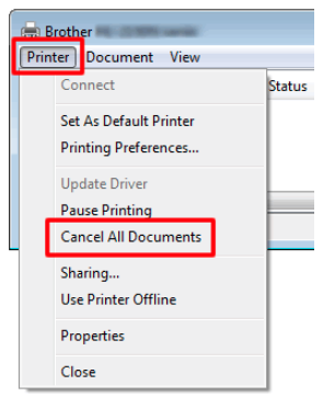 Removing all print jobs